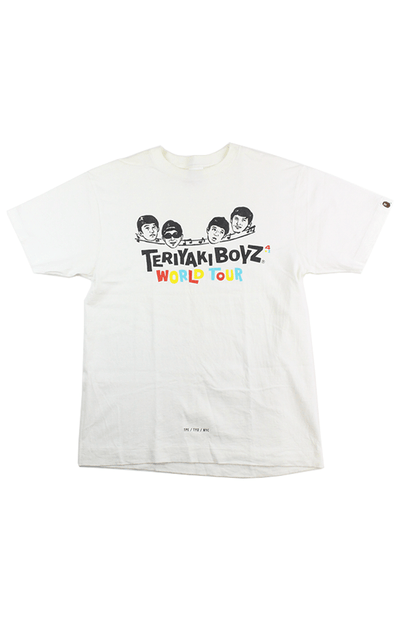 Bape x Teriyaki Boyz World Tour Tee White - SaruGeneral