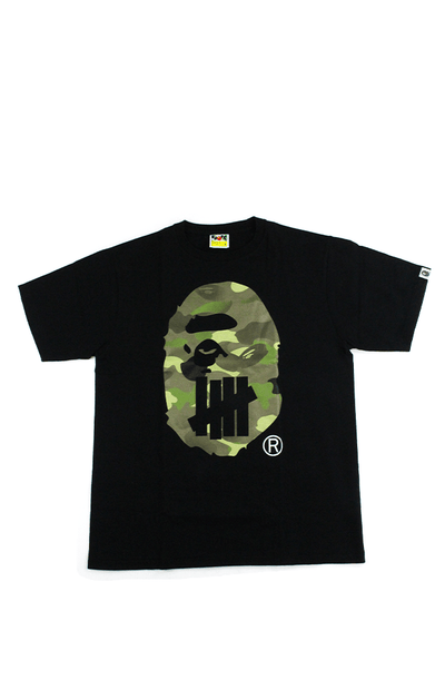 Bape x UNDFTD Green Camo Big Ape Tee Black