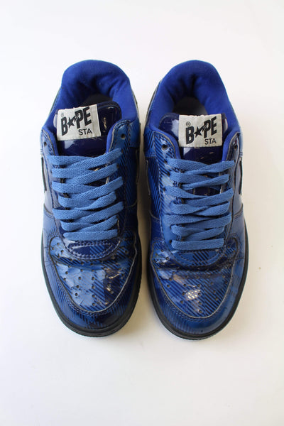 Bapesta Dark Blue Plaid - SaruGeneral