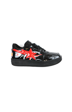 Bapesta Patent Black Shark Face