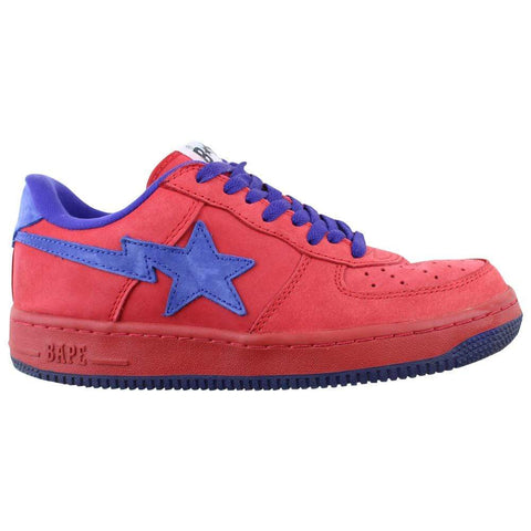Bapesta Red & Purple Nubuck