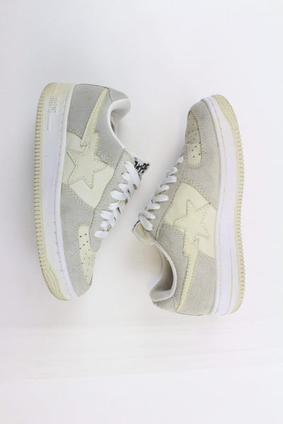 Bapesta Tan Grey Suede