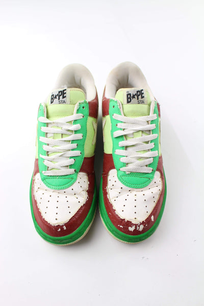 Bapesta White Green Red - SaruGeneral