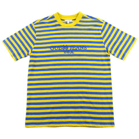 Guess Jeans Blue Yellow Striped Tee