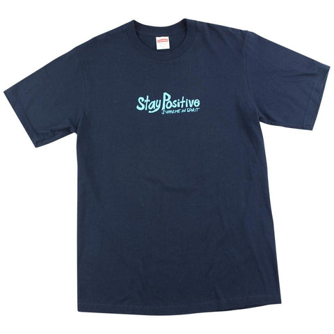 supreme stay positive tee navy - SaruGeneral