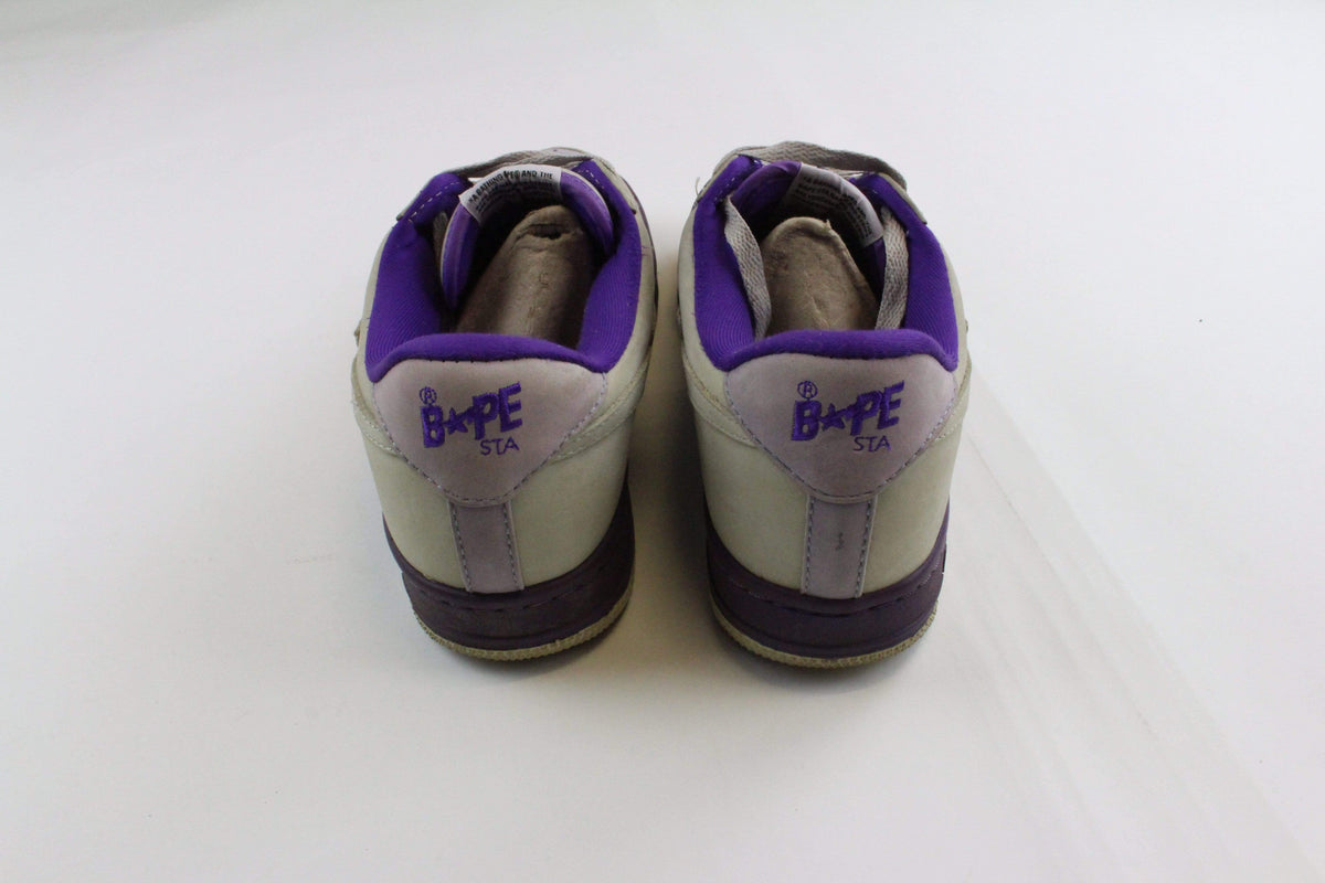 Bapesta Grey Suede and Purple - SaruGeneral