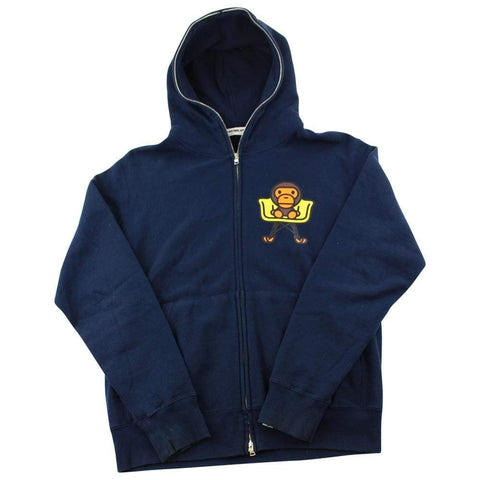 Bape Baby Milo Chair Logo Full Zip Navy - SaruGeneral