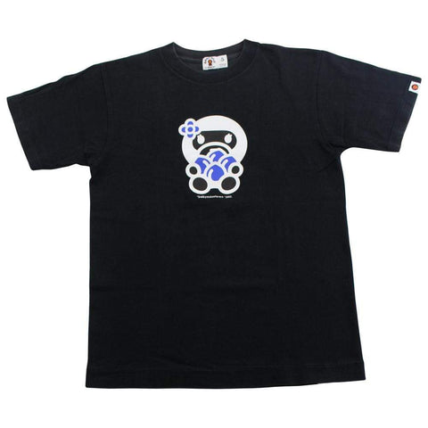 Bape Baby Lisa blueberries Logo Tee Black - SaruGeneral