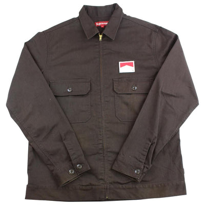 supreme x marlboro work jacket brown 2009 - SaruGeneral