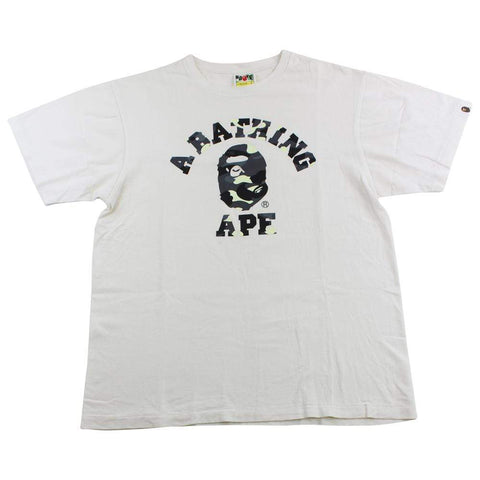 Bape glow city Camo College Logo Tee White - SaruGeneral