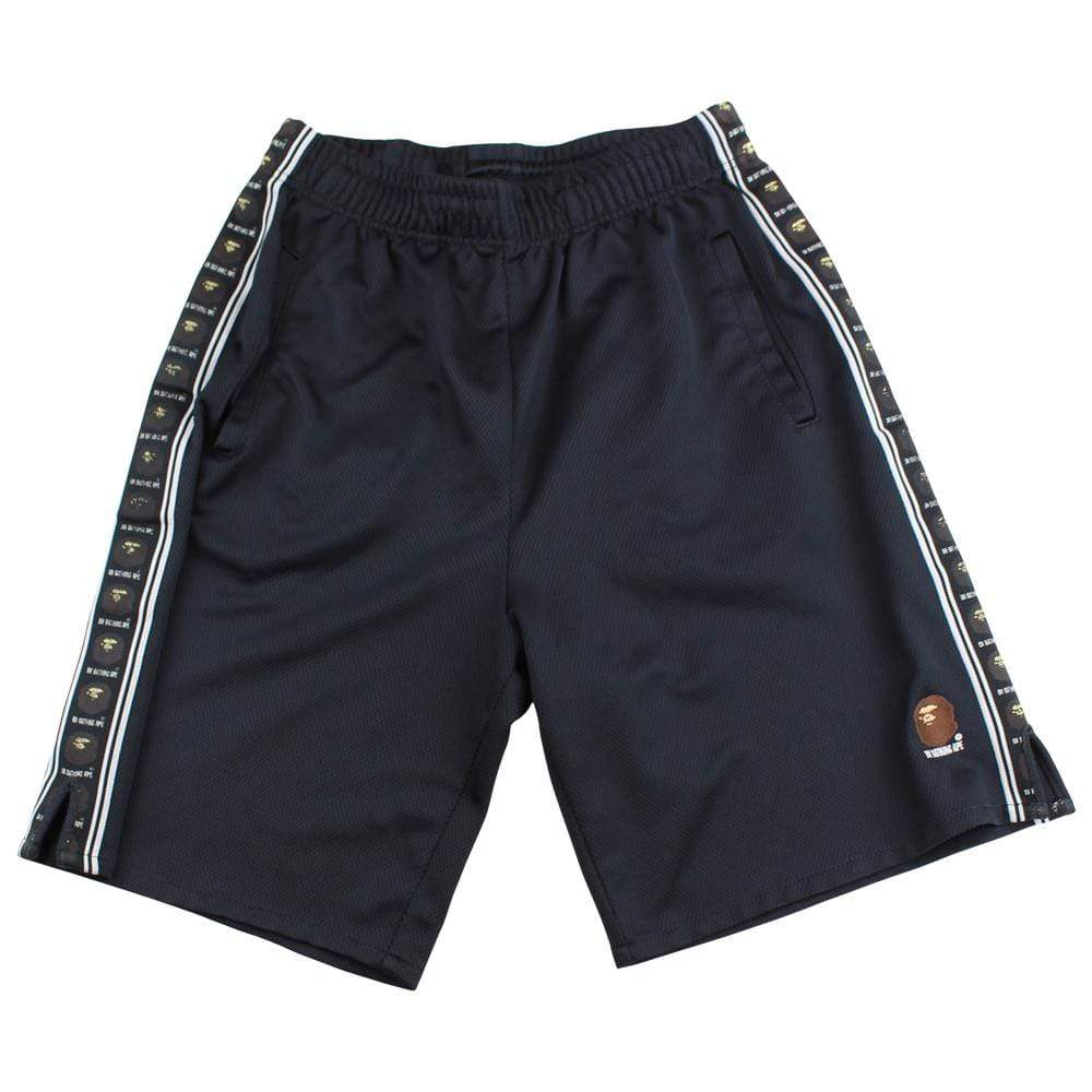 bape angry face track shorts black - SaruGeneral