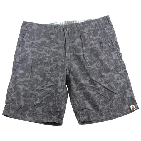 bape black/grey camo shorts - SaruGeneral