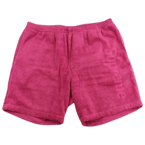 supreme terry cotton shorts burgundy - SaruGeneral