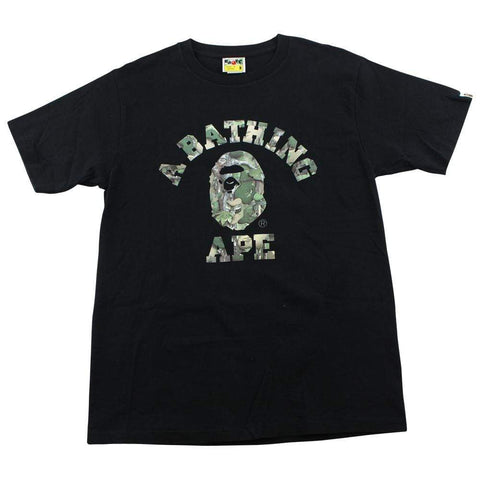 Bape Leaves College Logo tee Black - SaruGeneral