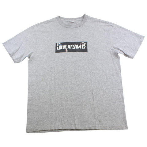 Supreme x joe cool box logo tee grey 2007 - SaruGeneral