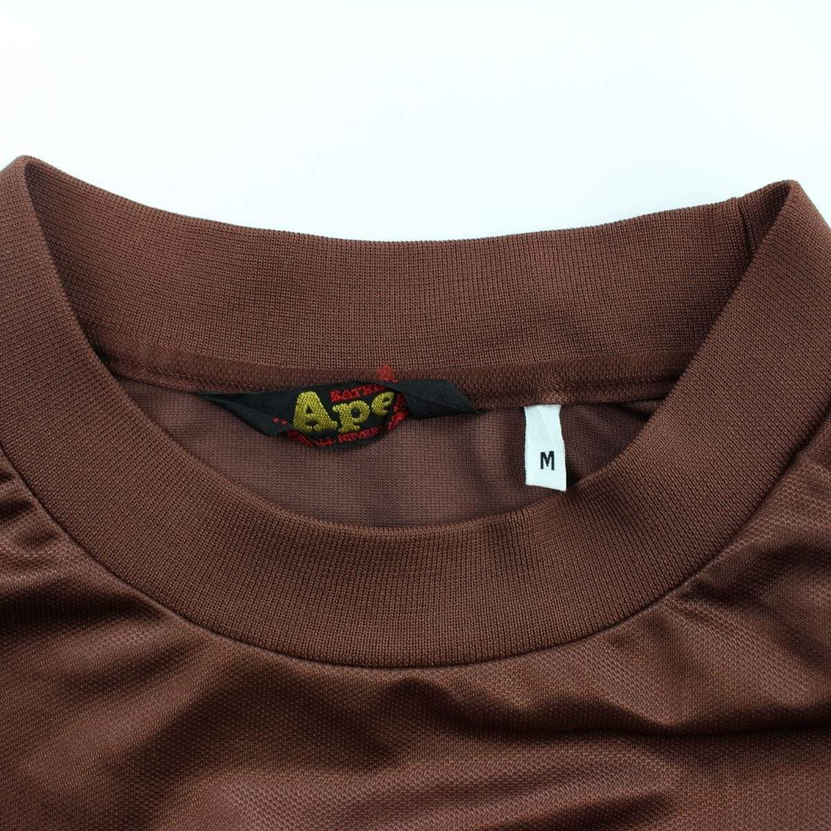 Bape Angry Face Big Ape Logo Football Jersey Brown - SaruGeneral