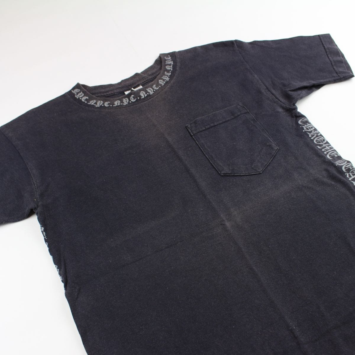 chrome hearts neck print tee black - SaruGeneral