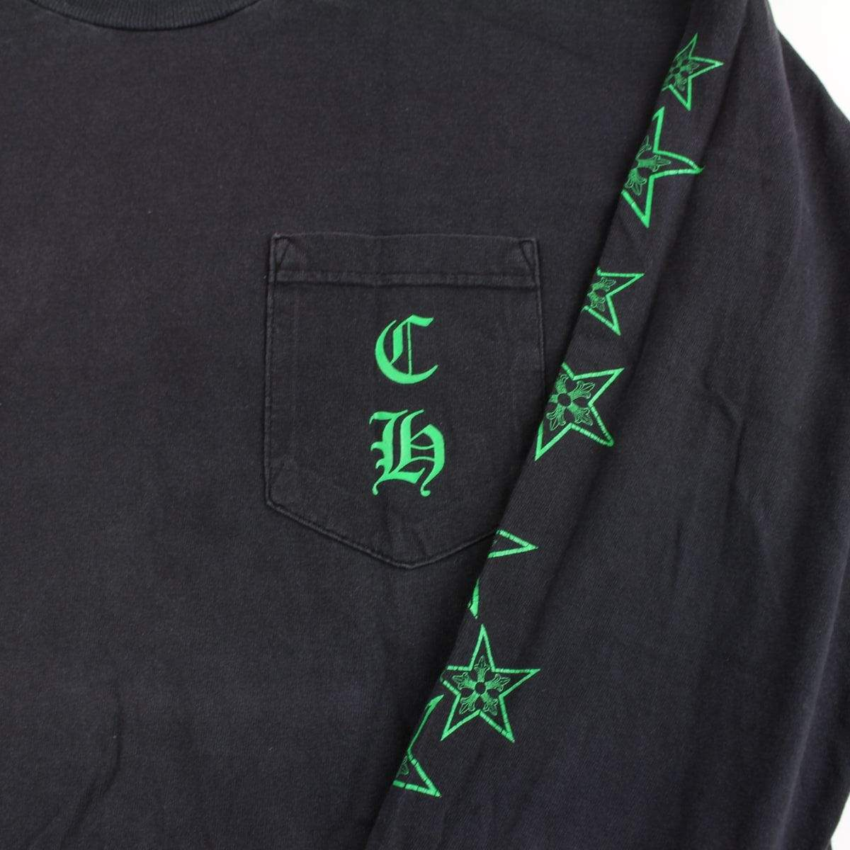 chrome hearts green cross stars ls black 90's - SaruGeneral