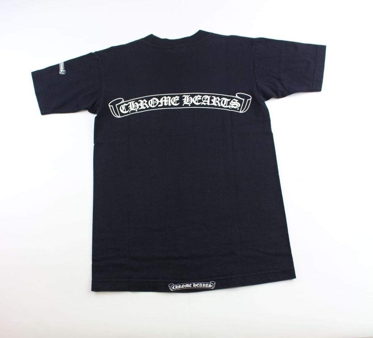 chrome hearts Vertical pocket Ribbon tee black - SaruGeneral