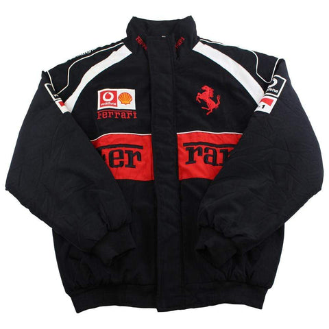 Ferrari x Michael Schumacher Logo Racing Jacket Black - SaruGeneral