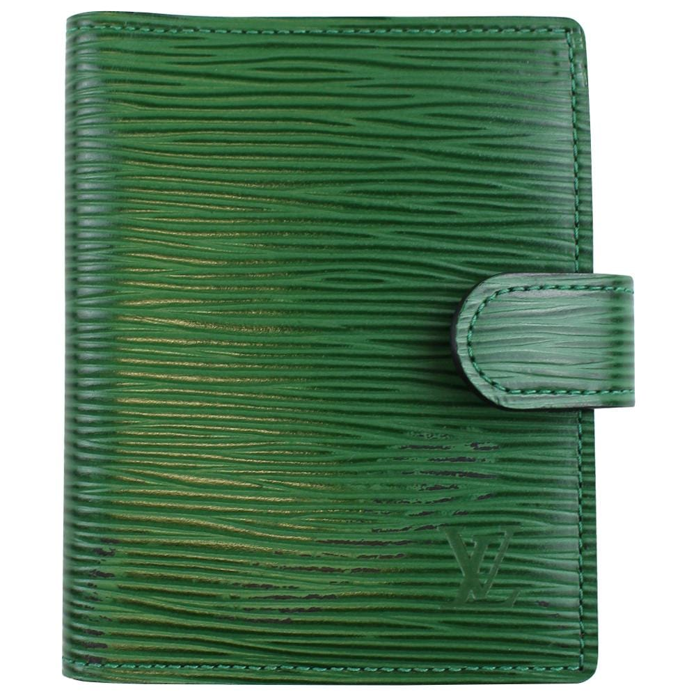 louis vuitton EPI green leather wallet - SaruGeneral