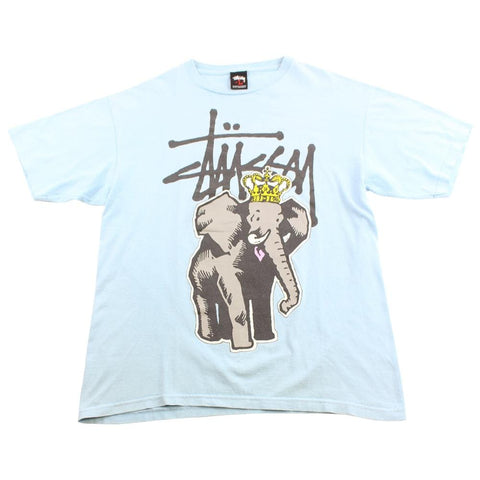 Stussy Large and In Charge Logo Tee Blue