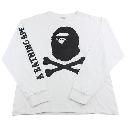 Bape pirate store LS white - SaruGeneral