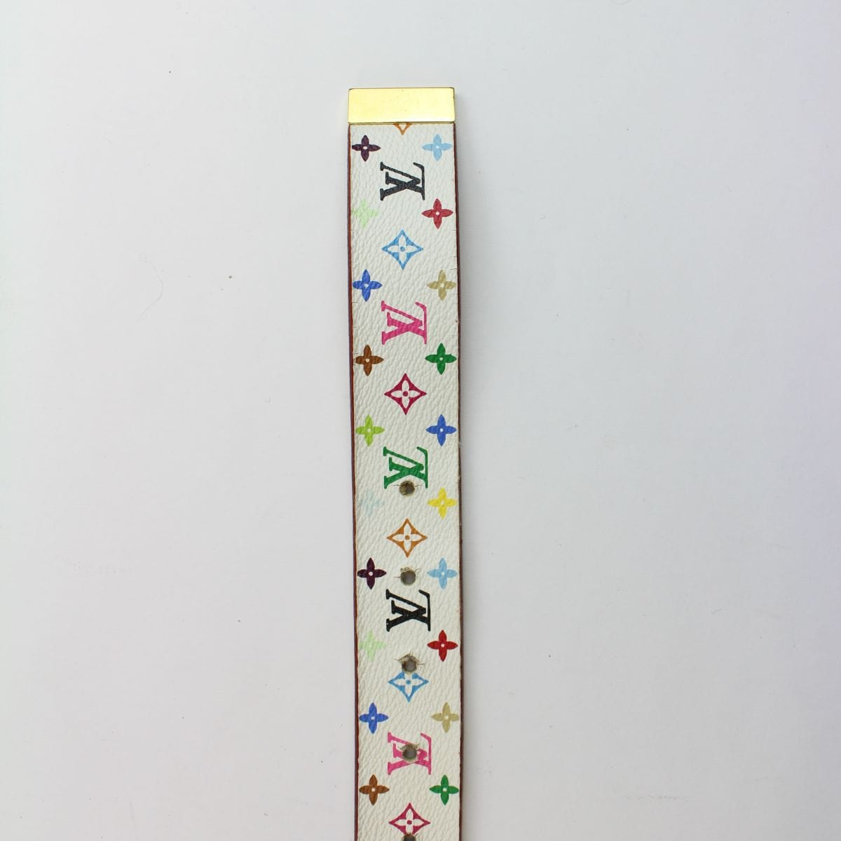 louis vuitton murakami white belt 2008 - SaruGeneral