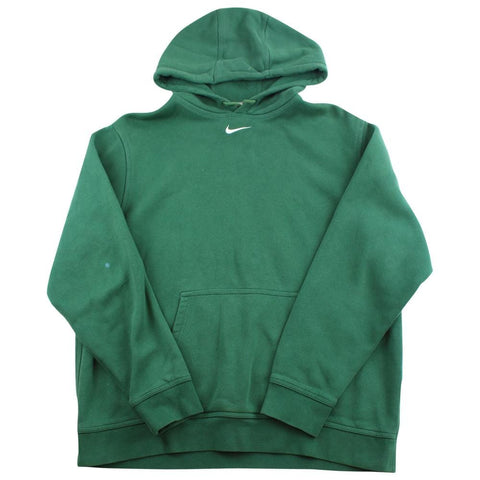 Nike Centre Swoosh Logo Hoodie Green - SaruGeneral