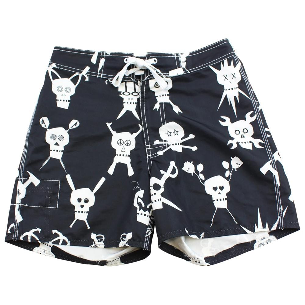 Stussy Crossbones Swim Shorts Black - SaruGeneral