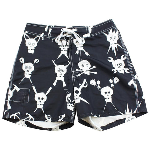 Stussy Crossbones Swim Shorts Black