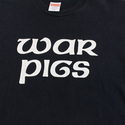 Supreme x Black Sabbath War Pigs Logo Tee Black - SaruGeneral