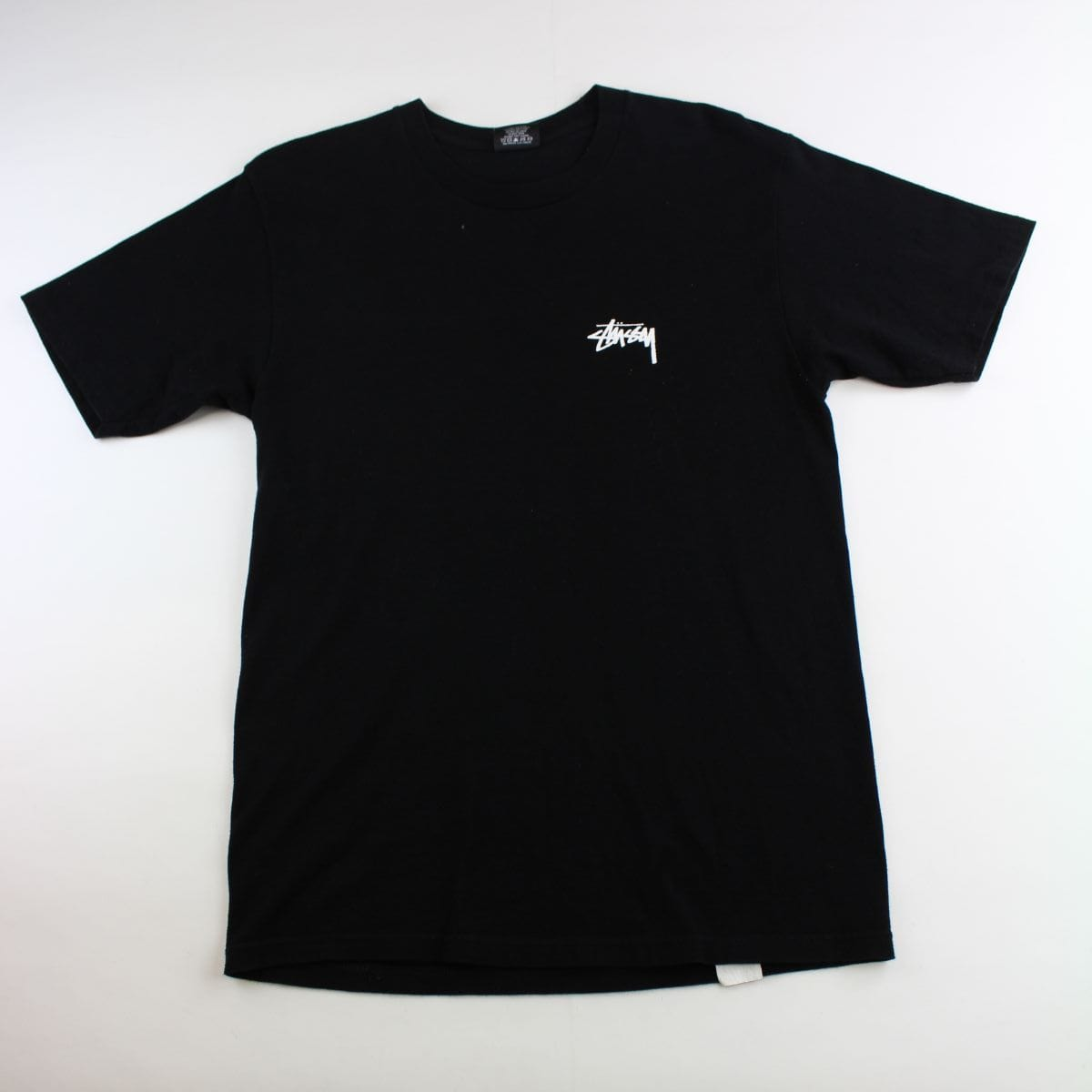 Stussy Checkered Surfer Logo Tee Black - SaruGeneral