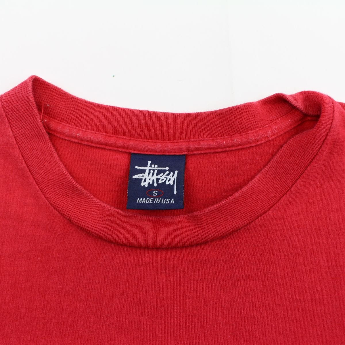 Stussy Double S Cube Logo Tee Red