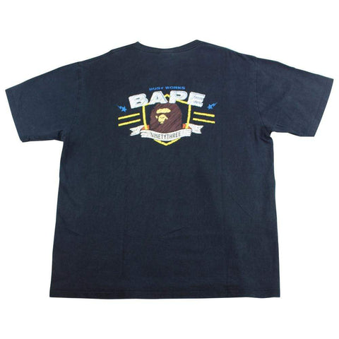 Bape Busy Works Wings Logo Tee Black - SaruGeneral