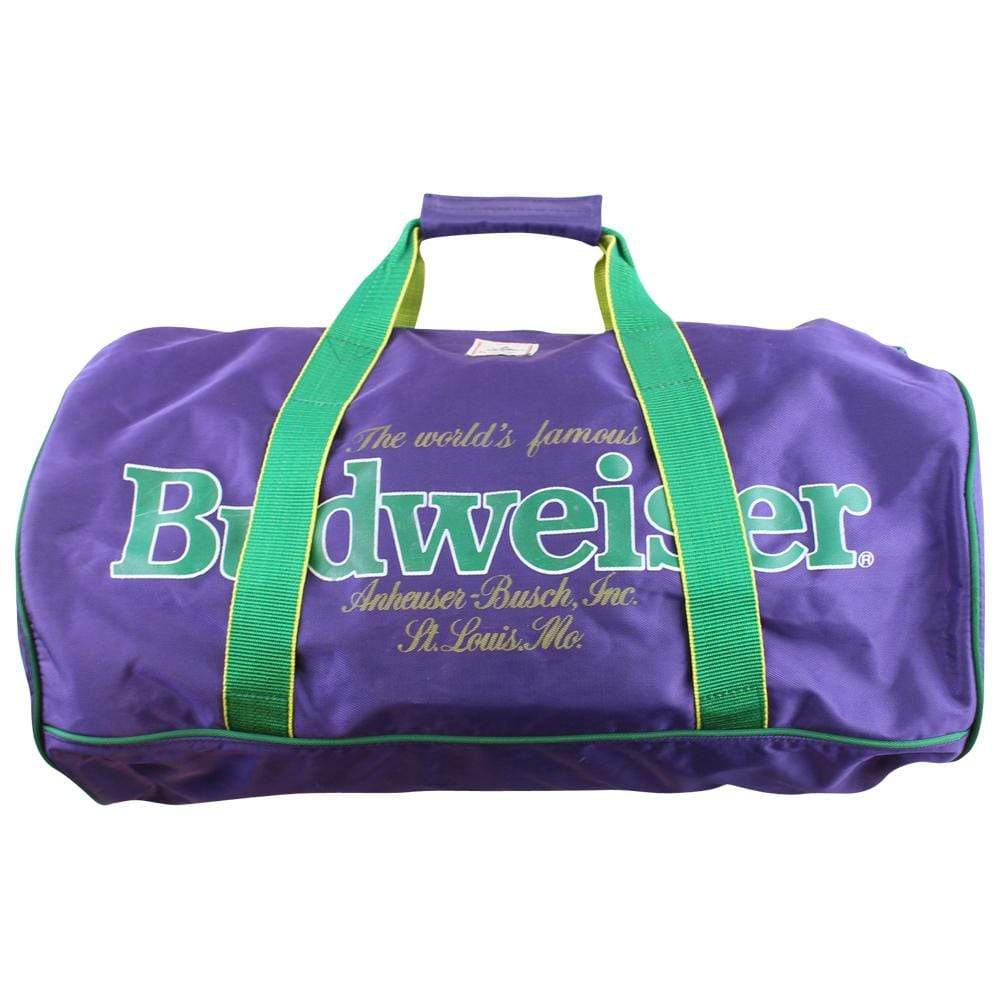 Budweiser Purple & Green Duffle Bag