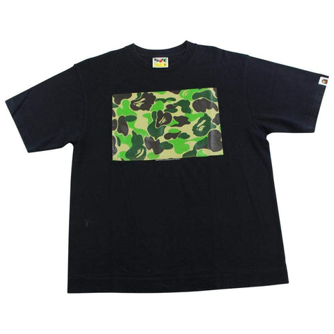 Bape ABC Green camo box tee black - SaruGeneral