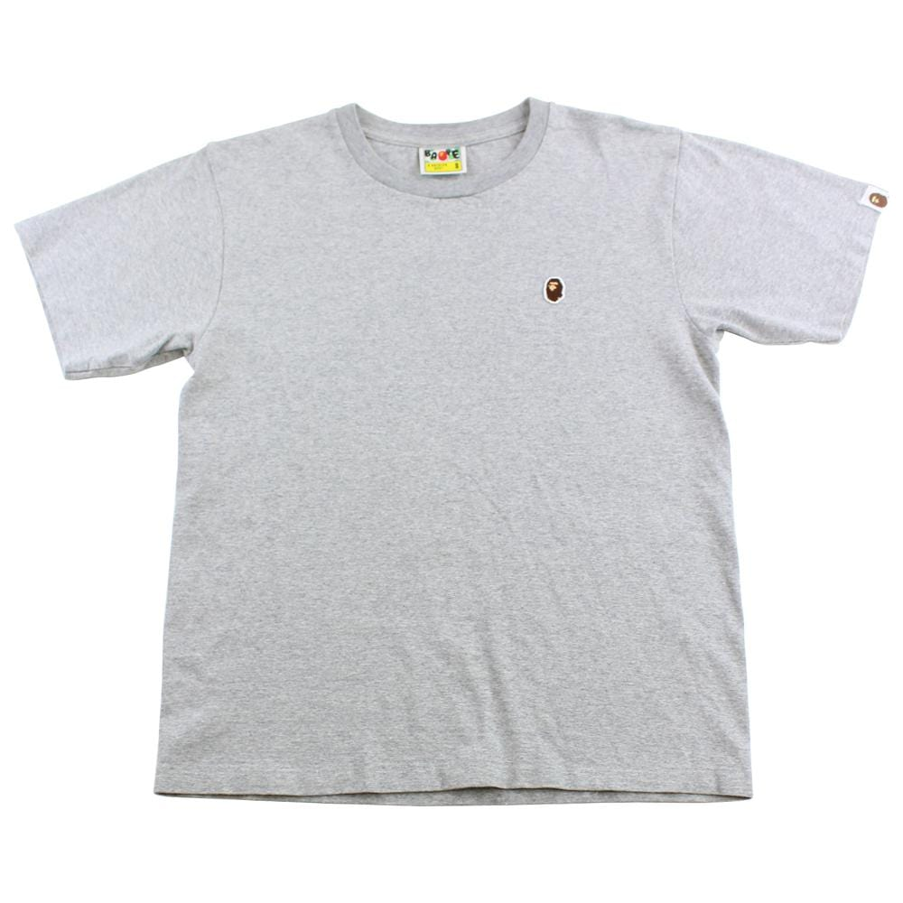 bape point head logo tee grey - SaruGeneral