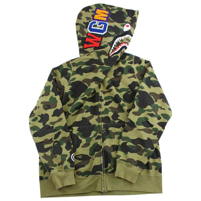 bape 1st green camo allover shark - SaruGeneral