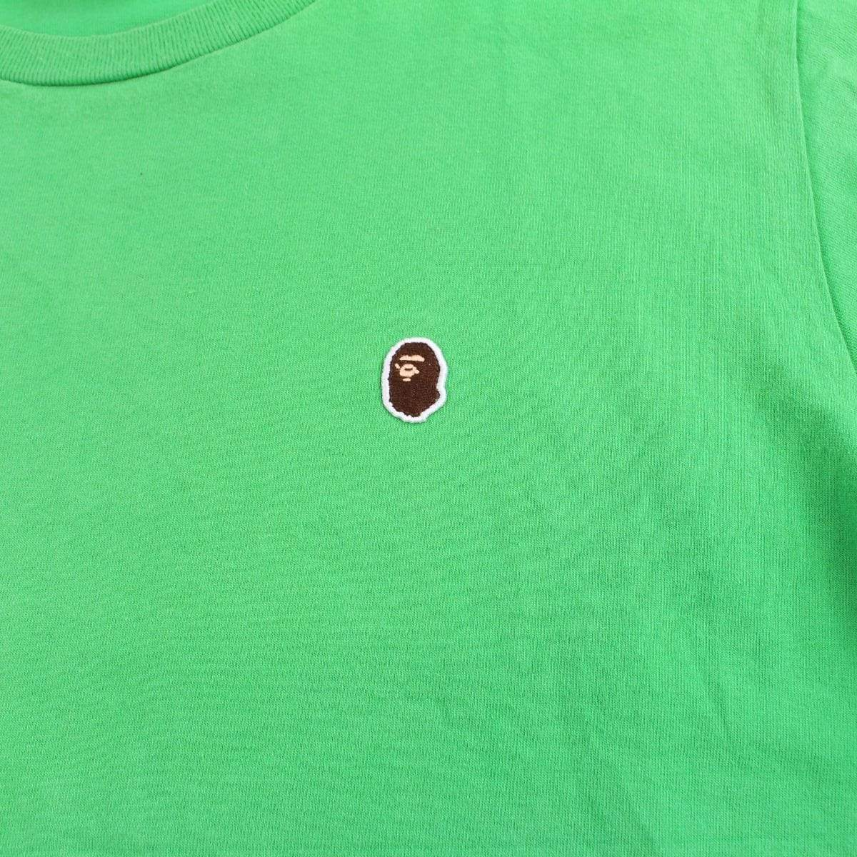 Bape Point Head Logo Tee Green - SaruGeneral