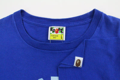 Bape Block Colour College Logo Tee Royal Blue - SaruGeneral