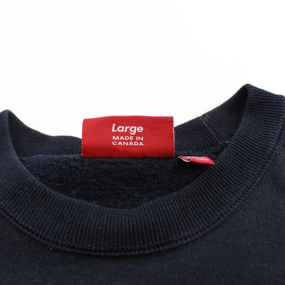 supreme red on black box logo crewneck - SaruGeneral