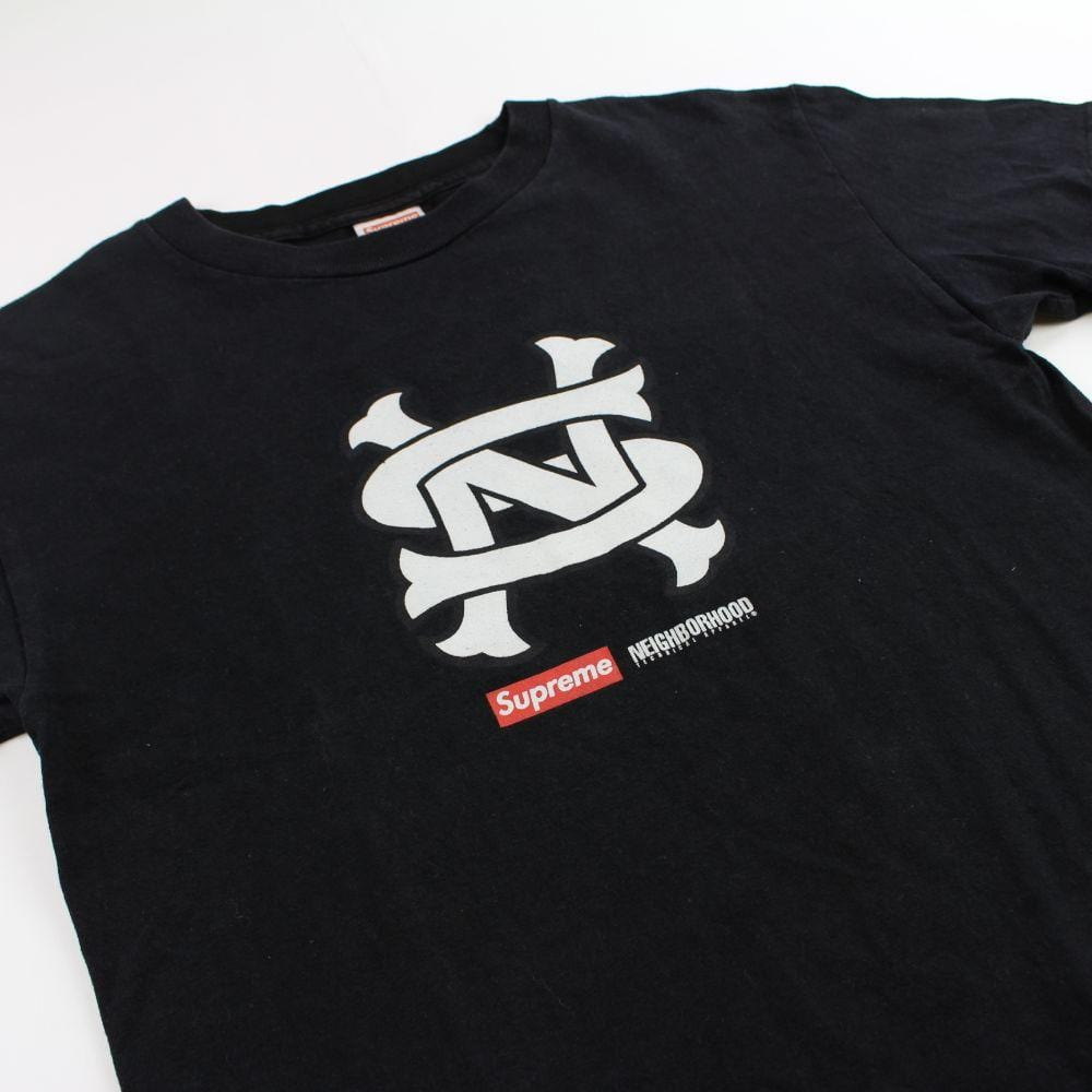 supreme x neighborhood SN logo tee black 2007 - SaruGeneral