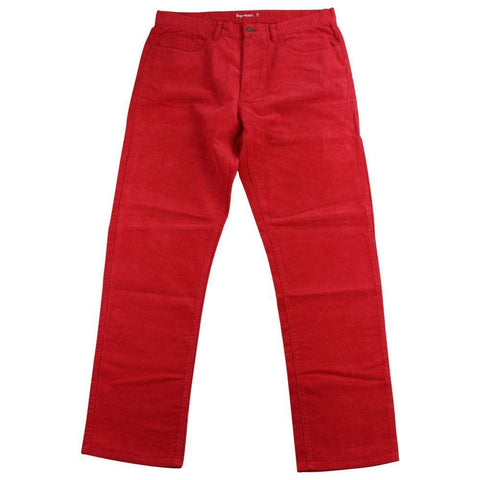 supreme red corduroy pants early 00's - SaruGeneral