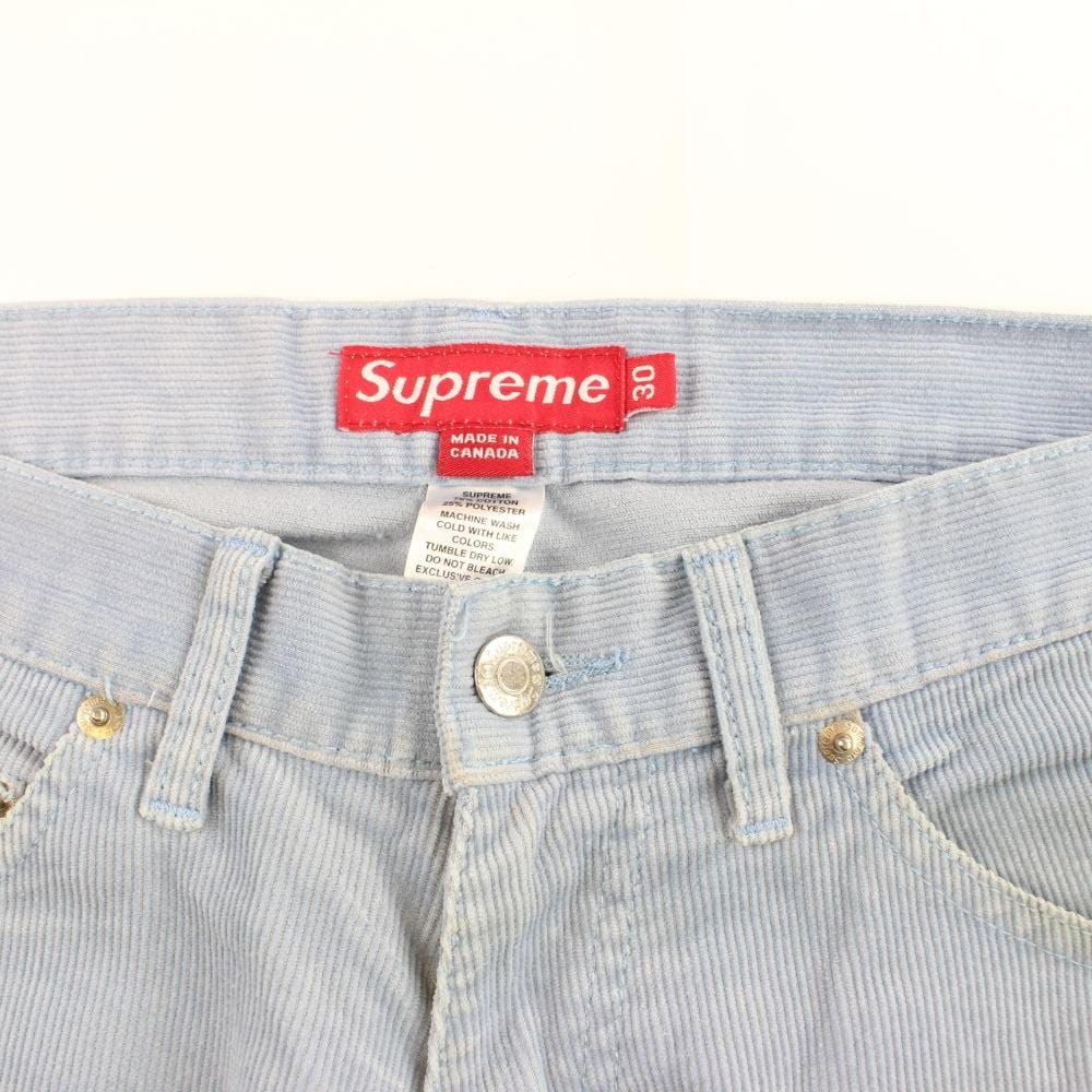 supreme blue corduroy pants early 00's - SaruGeneral