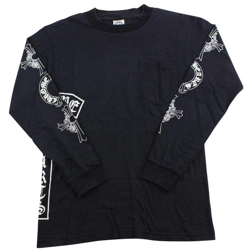 chrome hearts cross arms logo ls black - SaruGeneral