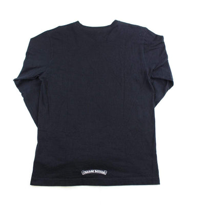chrome hearts flame sleeves ls black - SaruGeneral