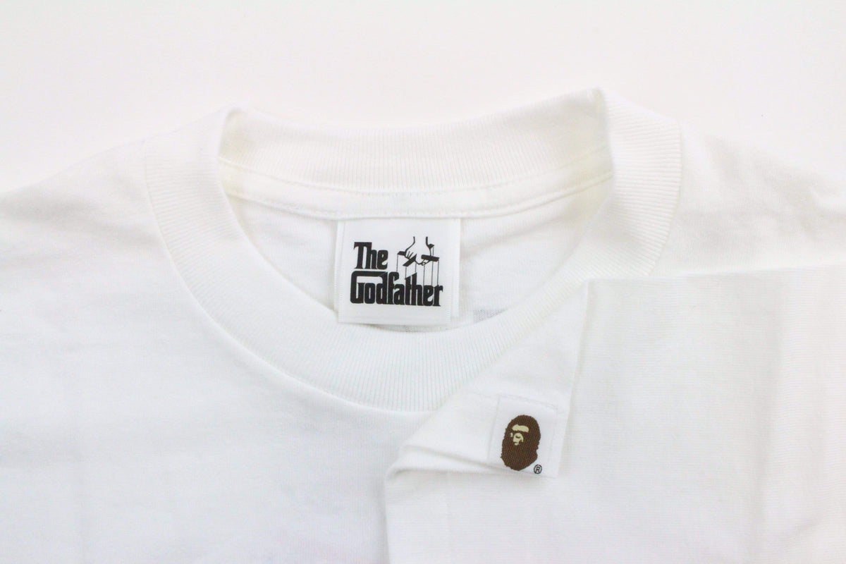 Bape x The Godfather Green Camo Logo Tee White - SaruGeneral