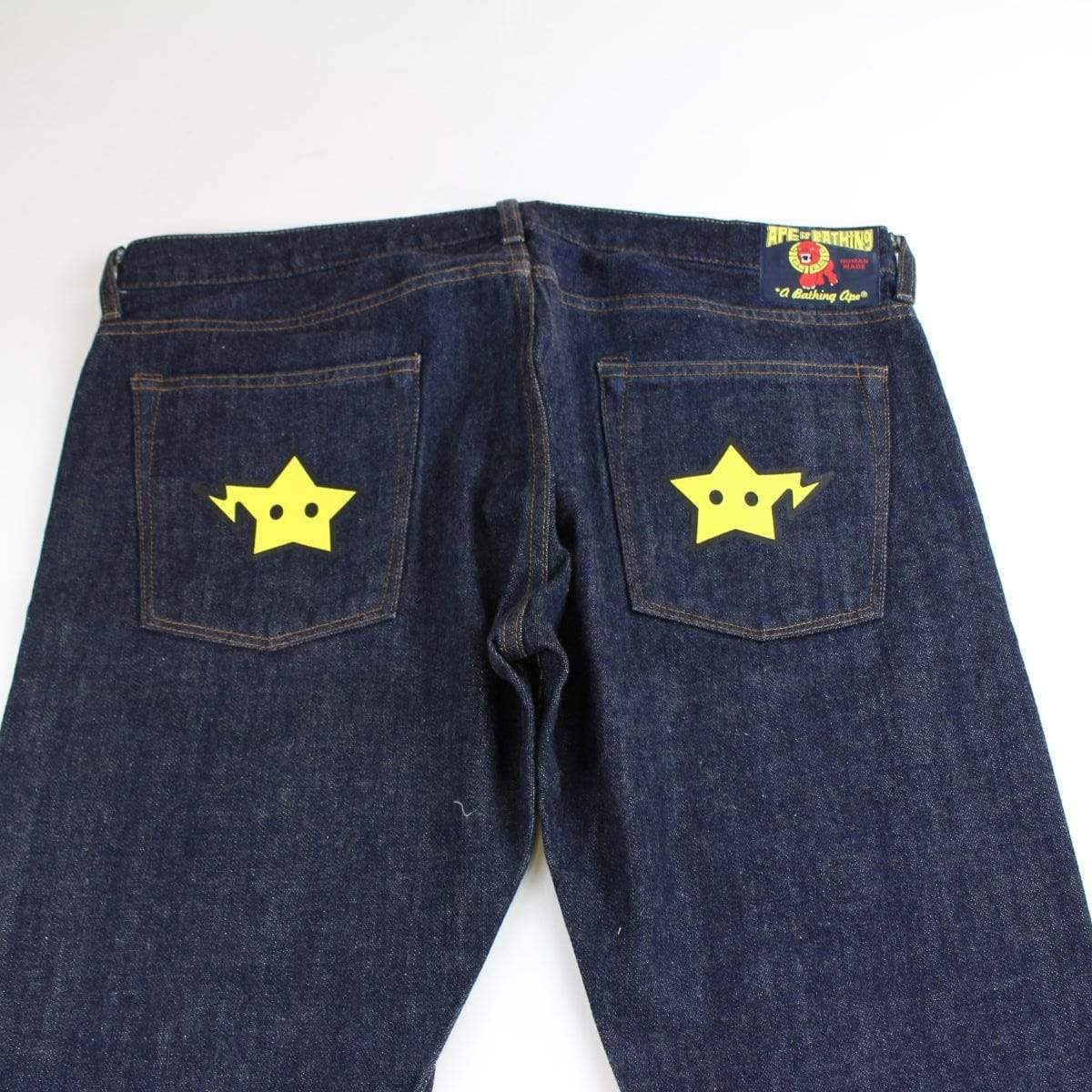 bape yellow bapestas jeans - SaruGeneral