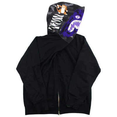 bape purple black tiger full zip - SaruGeneral